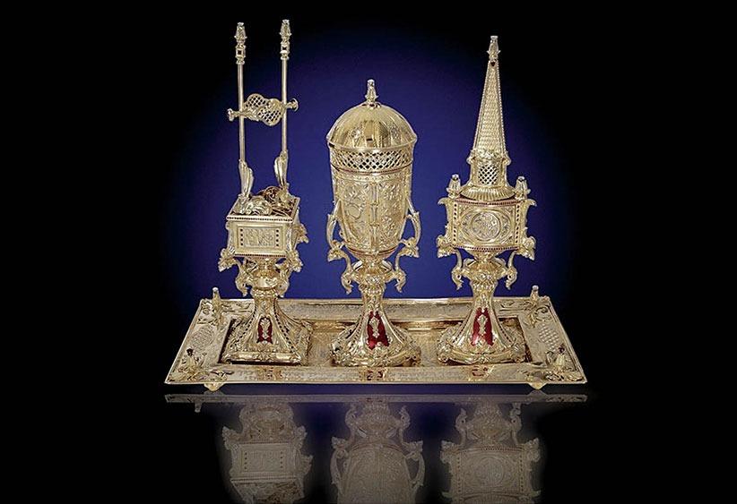 Golden Havdala Set