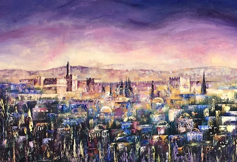 old city twilight